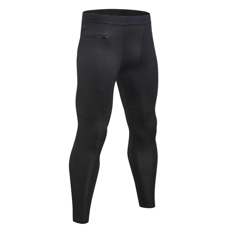 2018 Hot Desiged Fitness Leggings Men Compression Running Tights Pants Zipper Workout Quick Dry High Elastic Trousers Plus Size
