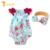 Twinsbella baby girl clothing 2017 new bebê recém-nascido macacão de bebê roupas asas mangas infantil produto com arcos cabeça