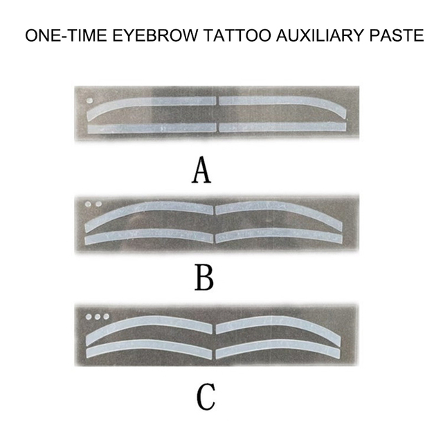 6 Pair Disposable Eyebrow Tattoo Shaping Auxiliary Sticker Templates Eyebrow Stencil SK88 1