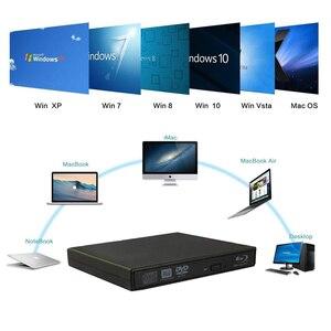 Image 2 - Lecteur de flou externe USB 2.0 lecteur DVD Blu ray 3D 25G 50G BD R BD ROM CD/DVD RW graveur graveur enregistreur pour ordinateur portable