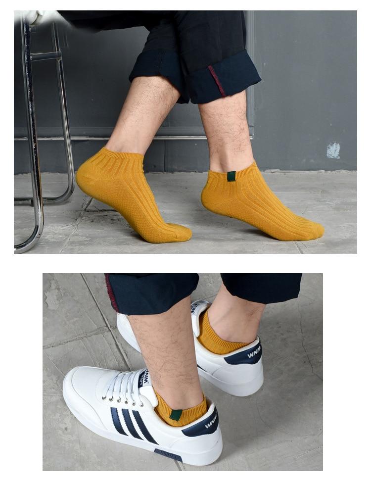 3 pairs 2018 pure cotton Mens Socks Young Students Ankle Socks Men Trendy Summer Socks Men white Socks