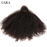 Mongolian Afro Kinky Curly Hair Human Hair Bundles 4B 4C Hair Weave Remy Natural Human Hair Extensions CARA Products 1 Pc
