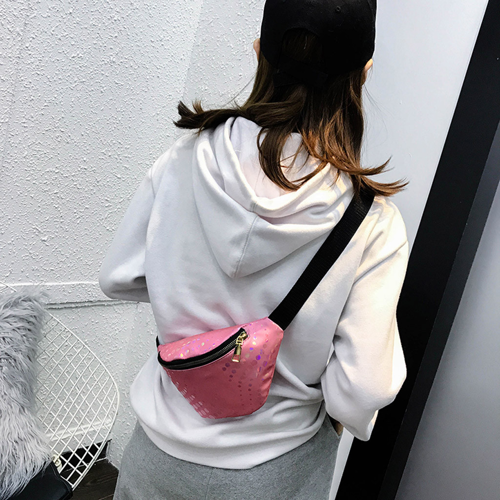shoulder bag Fashion Women Outdoor Zipper Sequin Laser Messenger Bag Chest Bag Waist Bag bolso mujershoulder bag Fashion Women Outdoor Zipper Sequin Laser Messenger Bag Chest Bag Waist Bag bolso mujer