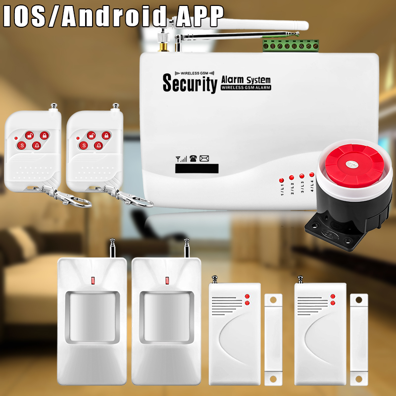 Etiger 53Kit Home Alarm Systems 850/900/1800/1900 Wireless GSM SMS Burglar PIR Voice APP Remote Control Set Arm/Disarm etiger hd network camera etiger s4 burglar alarm gsm sms security system for home office