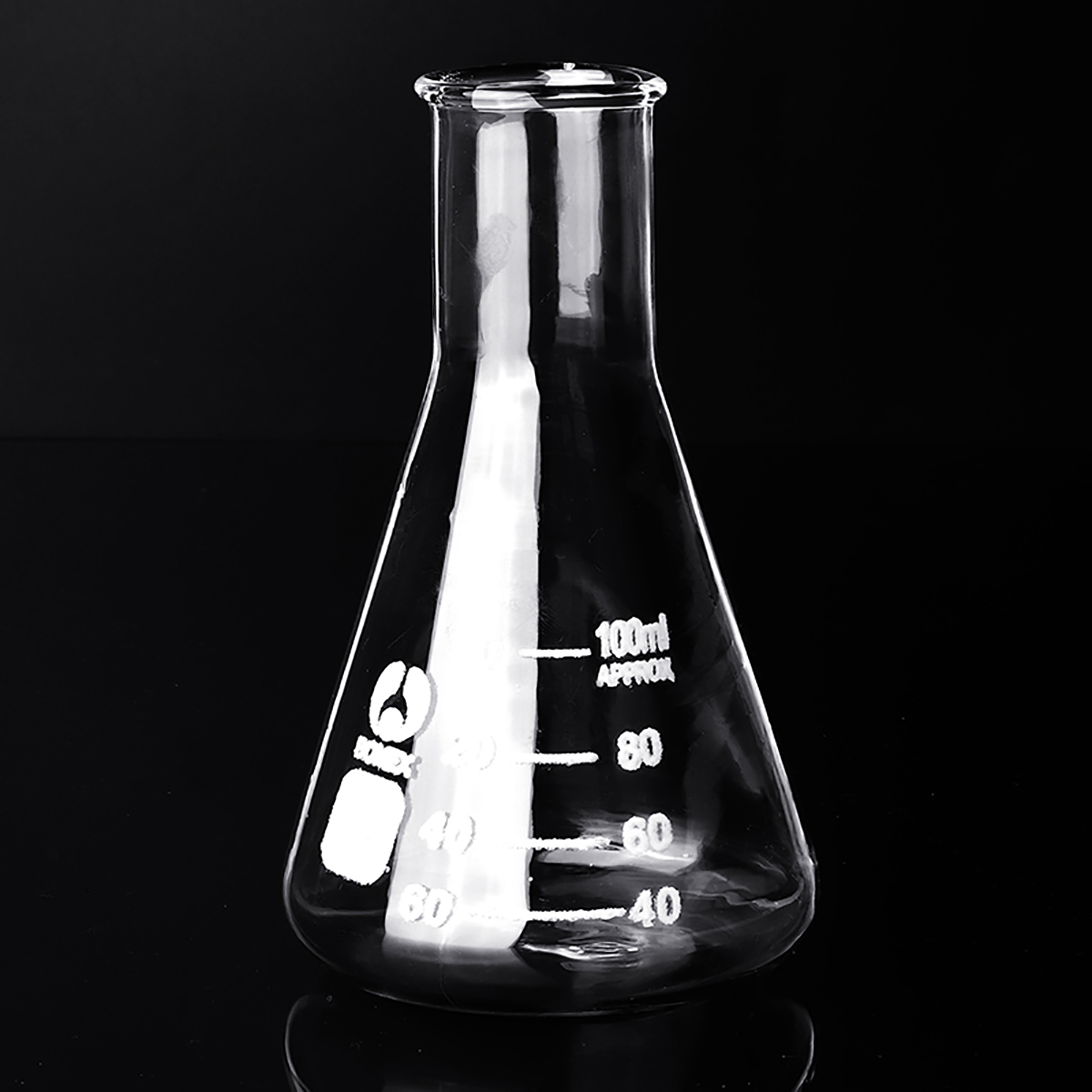 50-250ml Flat Bottom Conical Glass Flask Transparent Scientific Erlenmeyer Flask Lab Teaching Chemical Experiments Vessels