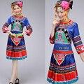 Взрослых мяо одежды Наряды Женщин Китайский народный танец носить костюм традиционный китайский костюм складки юбки
