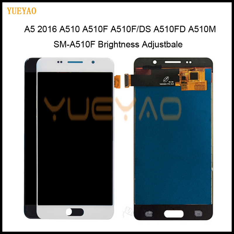 Brightness Adjustbale A510 LCD For Samsung Galaxy A5 2016 A510 A510F A510M SM-A510F LCD Display+Touch Screen Digitizer AssemblyBrightness Adjustbale A510 LCD For Samsung Galaxy A5 2016 A510 A510F A510M SM-A510F LCD Display+Touch Screen Digitizer Assembly