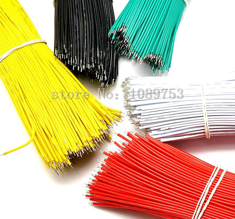 Image 2 - New 6 Colors XH2.54 Single Tin Header 10CM/20CM/30CM Terminal wire Connector wire 26AWGwire connectorsingle wire connectorwire terminal connector -