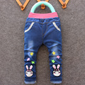 Free shipping 2017 spring new style cartoon fashion character children kid baby boy girl jeans pants