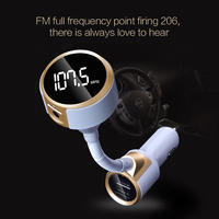 Bluetooth FM Verici 12 V Araba Kablosuz Handsfree Çağrı U disk MP3 müzik Çalma USB Telefon Şarj 5 V 1A 2.4A Oto FM Vericileri