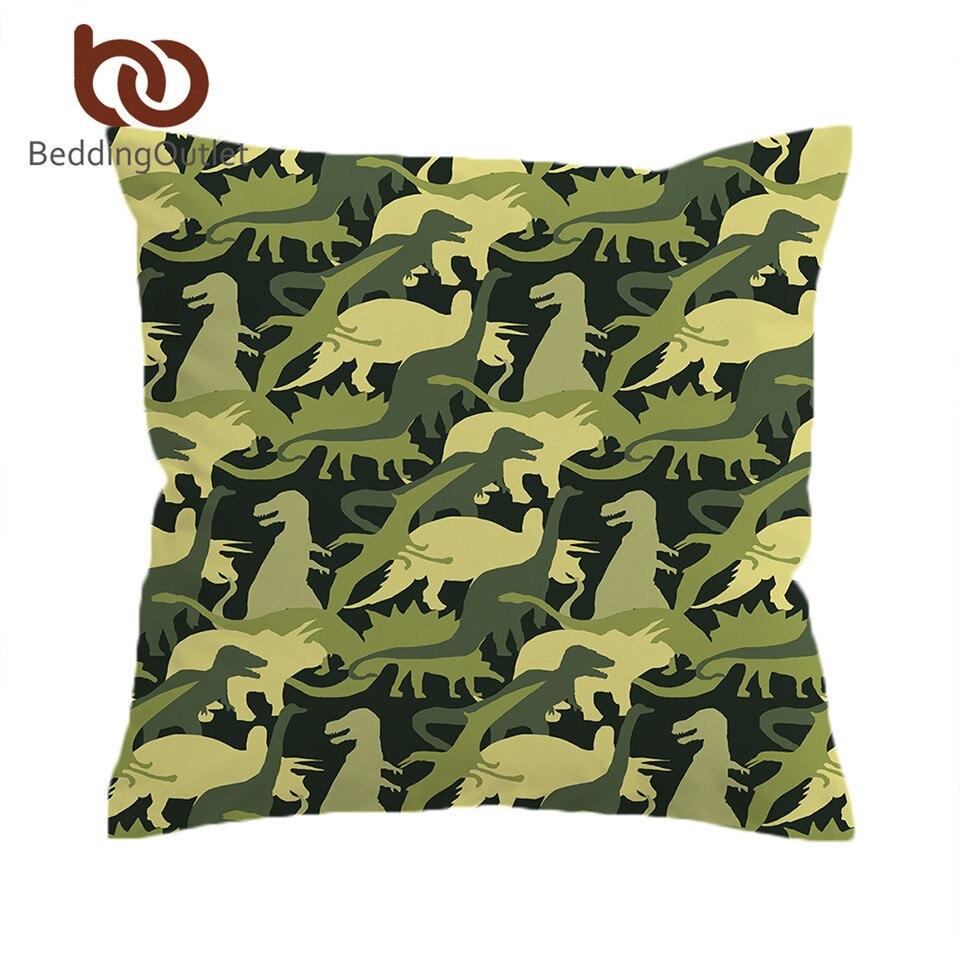 Beddingoutlet Dinosaur Troops Cushion Cover Animal Pillow