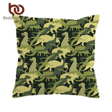 BeddingOutlet Dinosaur Troops Cushion Cover Animal Pillow Case Cover Camouflage Decorative Pillowcase for kids Sofa Bedding