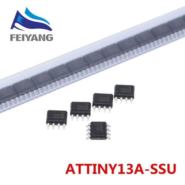10 Stks/partij 2019 Nieuwe Model ATTINY13 ATTINY13A TINY13A Mcu Avr 1K Flash 20Mhz 8Soic Ic (ATTINY13A SSU)