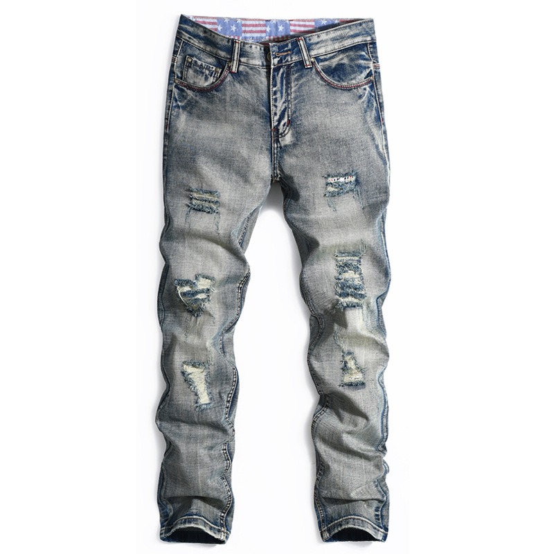 ФОТО For Men Good Quality 2016 free shipping Fashion Men Jeans New Arrival Design Slim Fit Fashion Jeans European and American style