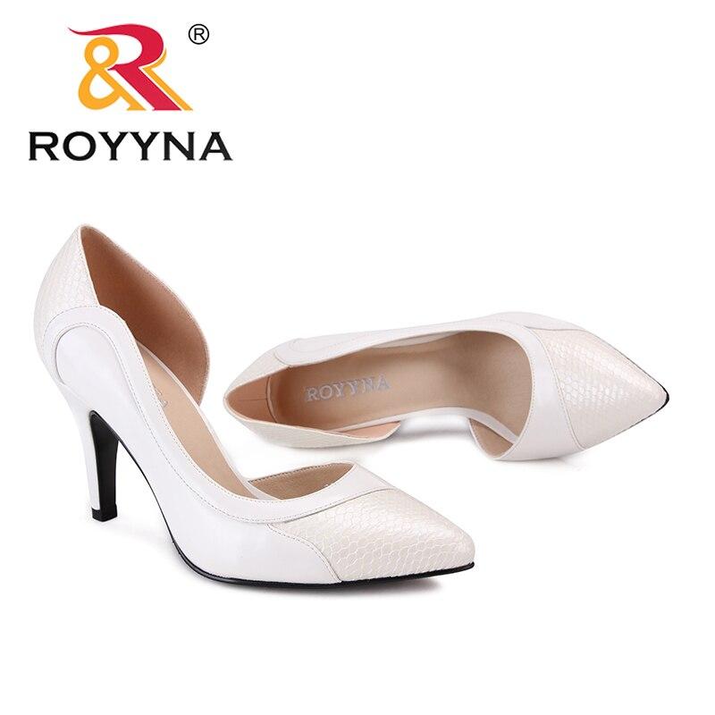 Talons Femmes Black white coffee Style Nouveaux Mince Livraison Bout Pointu Chaussures Royyna Haute Femme Formelles Gratuite Pompes Robe Classiques Rapide rdeWQBoCxE