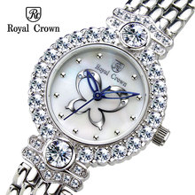 Lady Women s Watch Japan Quartz Hours Best Fashion Dress Bracelet Butterfly Shell Luxury Rhinestones Bling