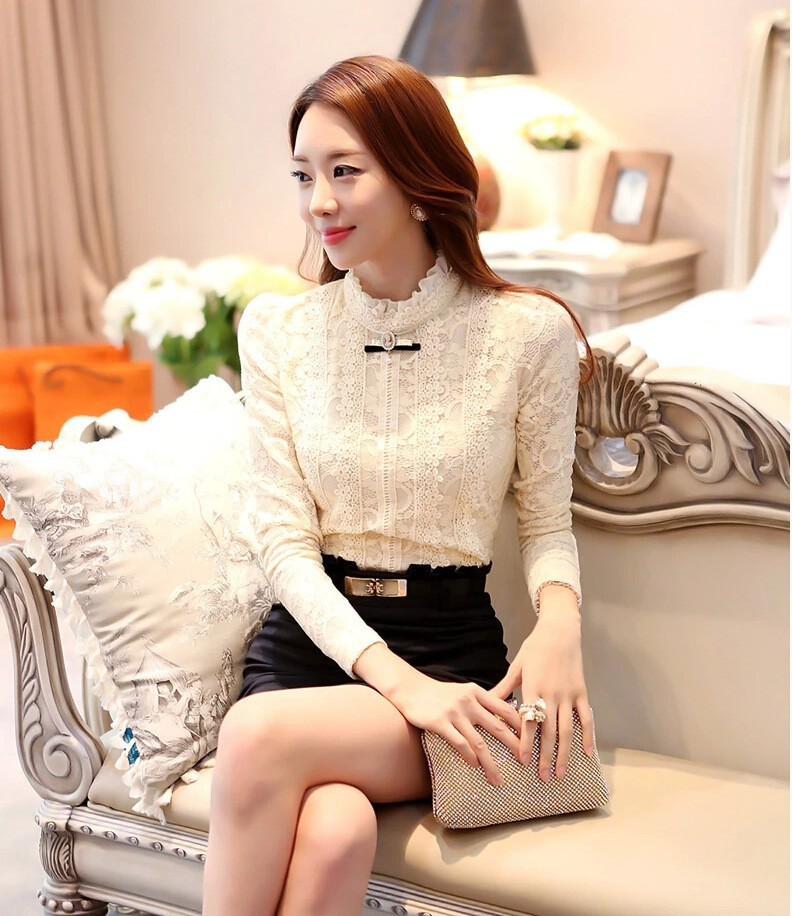 HTB1WbimGVXXXXaMXVXXq6xXFXXXM - New Lace Shirt Women Clothing Blusas Femininas Blouses