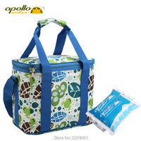 Apollo Customized Cooler Bag 12L Large Volume Aluminum Foil Thermal Bag Oxfod 600D Ice Bag Outdoor