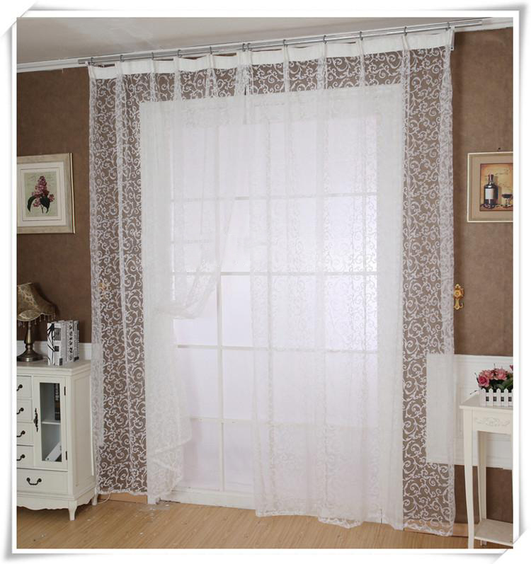 2017 1pcs modern tulle curtains for bedroom living room 200270cm printed floral window yarn product sheer blinds curtain