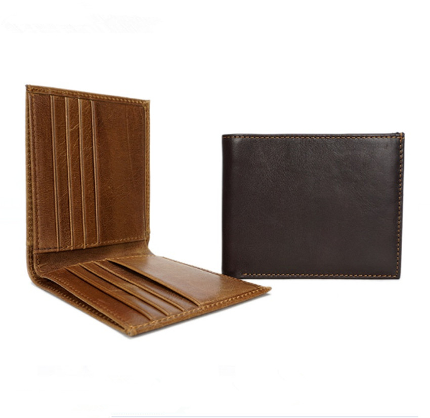 Genuine C Leather Small Mini Ultra-thin Wallets men Compact wallet Handmade wallet Cowhide Card Holder Short Design purse viewinbox black genuine cattle leather mini short wallet and purse small wallet feminine clutch genuine leather wallet