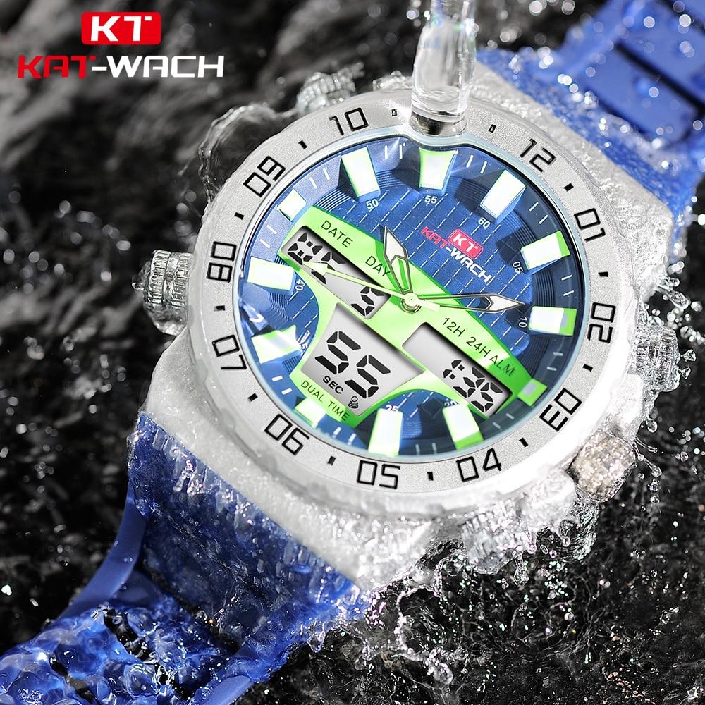Realistisch Tauchen 50 Mt Sport Wasserdichte Uhr Männer Im Freien Digitale Uhren Led Elektronische Armbanduhr Military Alarm Männlichen Hohe Qualität Uhr