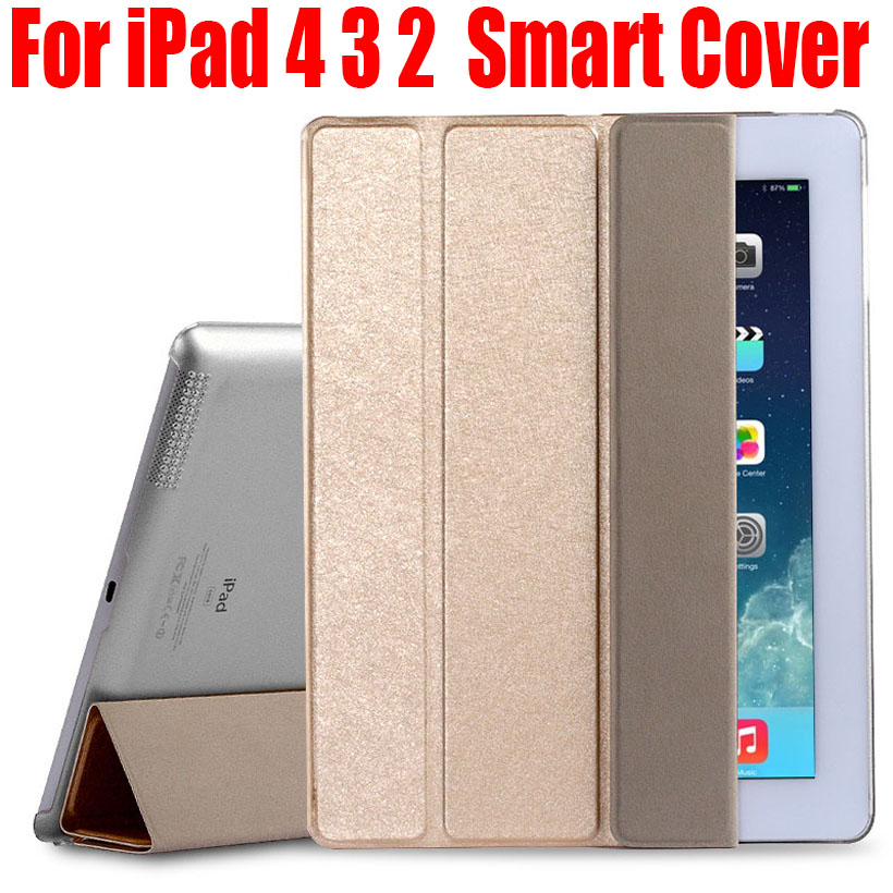 Smart Cover For iPad 4 3 2 Fashion Luxury PU leather Clear back Case For iPad 4/3/2 NO: I403 pannovo waterproof pu leather extra thick anti shock eva case for gopro hero 4 3 3 2 sj4000