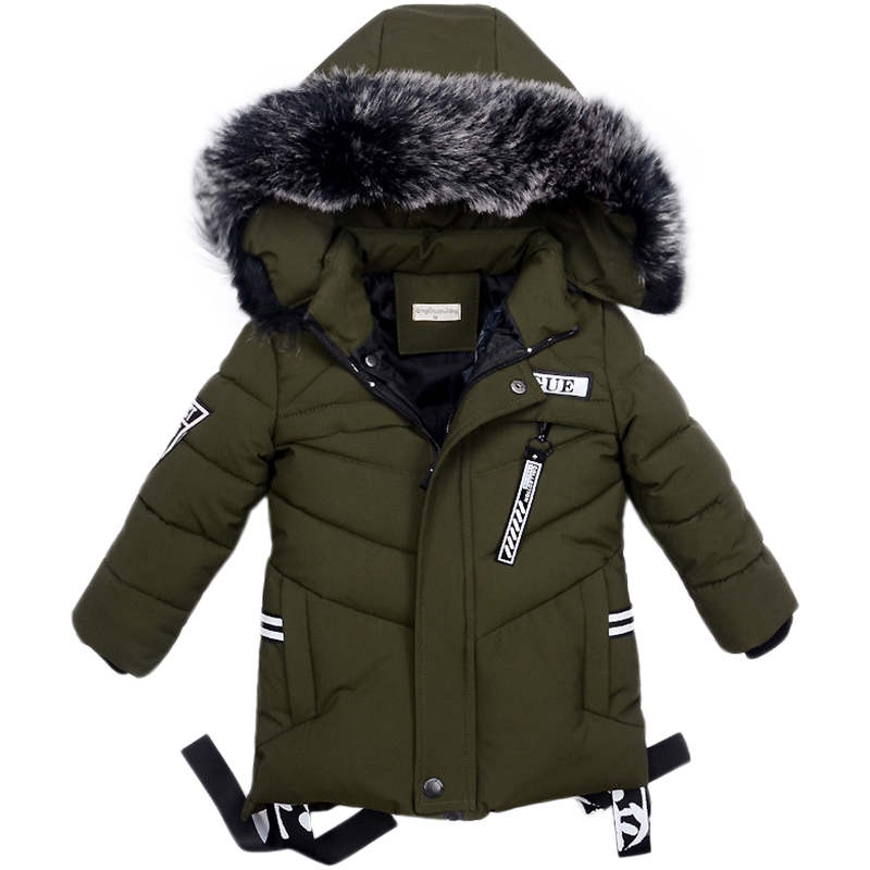 Winter Jackets for Boys Warm Coat Kids Clothes Snowsuit Outerwear & Coats Children Clothing Baby Fur Hooded Jacket Infant Parkas boys pu leather jacket boys coats autumn winter clothes 2017 children outerwear for clothing infant kids coat boy jackets