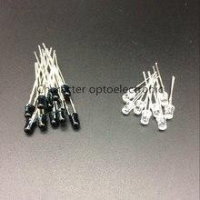 20 pairs/40 pces led 940nm 3mm leds infravermelho 940 nm ir emissora infrastrvermelho receptor diodos diodos ricevitore emettitore