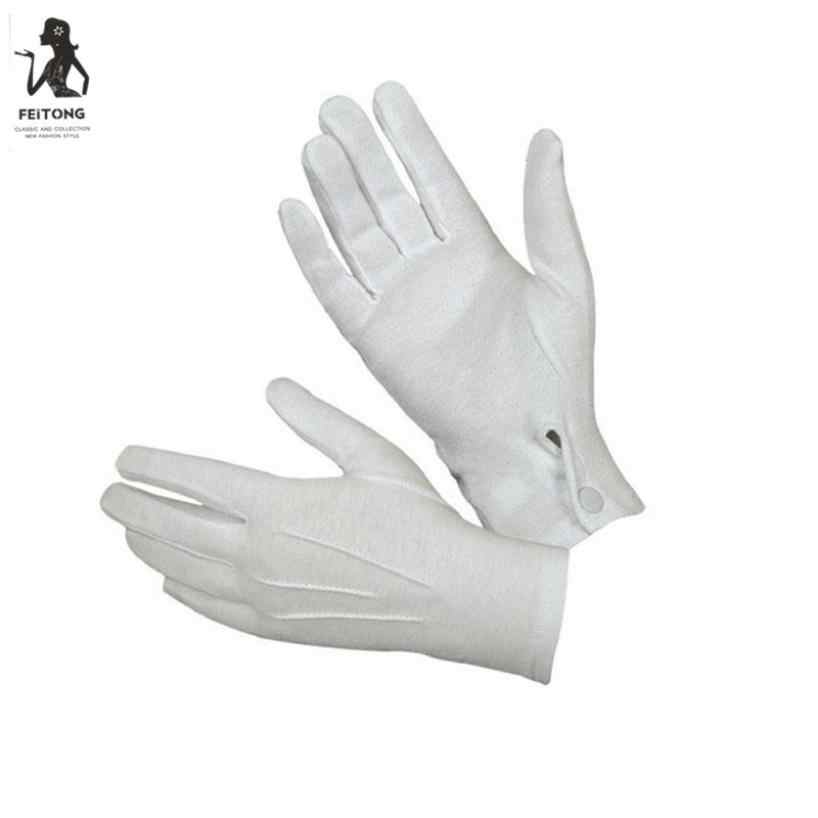 DROPSHIPPING 2019 New Arrival Fashion 1Pair White Formal Gloves Tuxedo Honor Guard Parade Santa Men Inspection Gants chauds #J05
