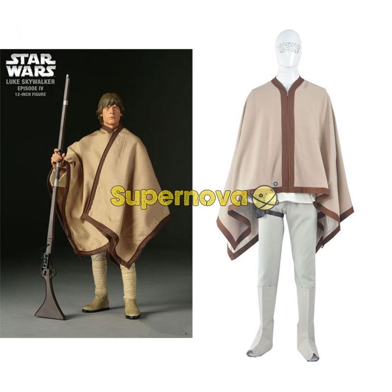 Supernova Movie Star Wars Luke Skywalker Cosplay Costume Jedi Knight Uniform Halloween Cosplay Costume Adult Men Customized