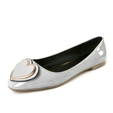 Women 's shoes, spring and summer metal shoes, flat shoes casual shoes