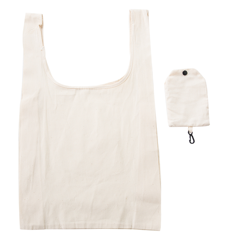 New ECO Cotton Shopping Bag Folding Package Women Men Reusable Canvas Fold Pouch White