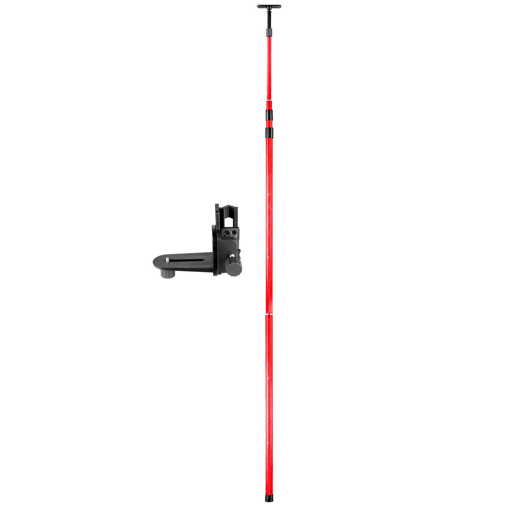 FIRECORE 4M Extend Telescoping Pole With 1 4 and 5 8 Interface Mount Ceiling Leveling Rod