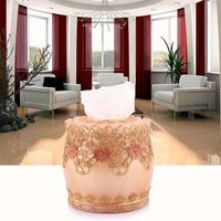 Fashion Tissue Box Cylinder Pumping Paper Box Household Rustic Pumping Tube Resin Sculpture