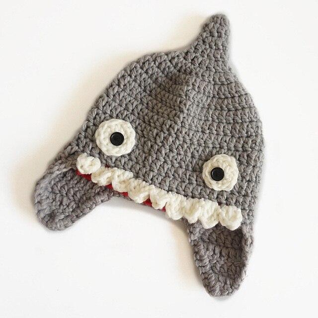 Handmade Winter Hut Häkeln Kinder Shark Beanie für Jungen Mädchen ...