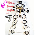 11pcs/set Stainless Steel female chastity belt,Whole body bondage restraints female chastity belt handcuffs adult sex Slave game