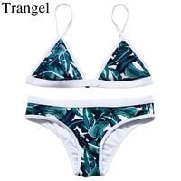 2016 New Brazilian Style Bikinis Sexy Tree Leaf Pattern Low Waist Swimwear Padded Soft Beach Summer
