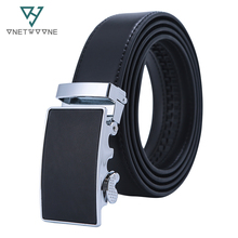 Mens High Quality Genuine Leather Belt-Ratchet Automatic Buckle Men Belt Popular Business Casual Male Belts Luxury Free Shipping cody steel mens fashion belt pu leather automatic buckle men belt designer popular casual business male belts luxury