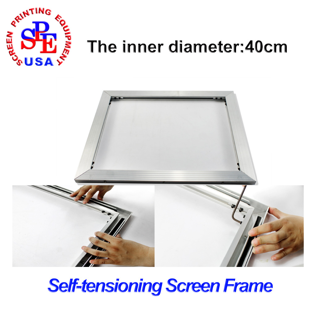 inner size 40*40cm screen frame 2015 type self-tensioning screen frame easy operate high quality no need strecter цена