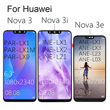 "LCD For HUAWEI Nova 3 6.3"" LCD Display Touch Screen Replace For Nova3 3i 3e LCD LX9  Parts PAR LX1 INE LX2 PAR AL00"
