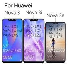 Pantalla LCD táctil para HUAWEI Nova 3, repuesto de pantalla LCD de 6,3 pulgadas para Nova3 3i 3e LX9, piezas PAR LX1 INE LX2