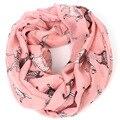 Dálmatas imprimir a infinity scarf mulheres inverno marca cão anel envoltório cachecóis lenço animais lenços bufandas mujer femme 2015