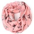 Dálmatas imprimir infinito bufanda invierno de las mujeres marca perro anillo wrap bufandas pañuelo animales bufandas fulares femme mujer 2015