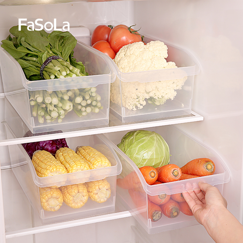 FaSoLa Kitchen Food Storage Box Refrigerator Food Finishing Box Plastic sorting box Stor ...