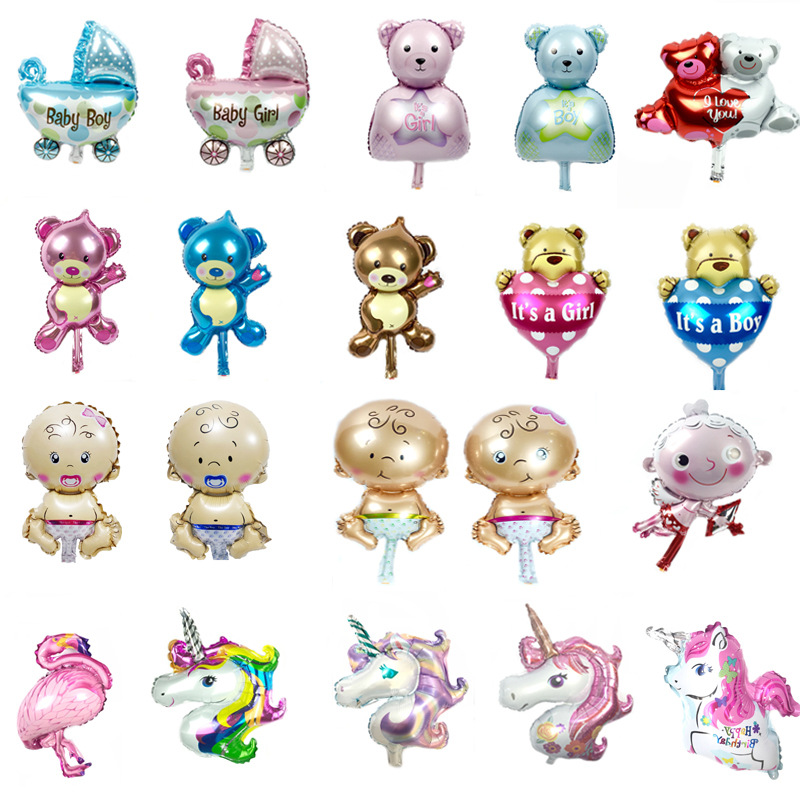 Favors Birthday Decoration Baby Shower Boy /& Girl Foil Balloon Inflatable Toys