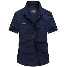 Летняя новая рабочая одежда, рабочая Мужская рубашка с коротким рукавом, хлопковая тонкая рубашка для отдыха, мужская рубашка карго 8698