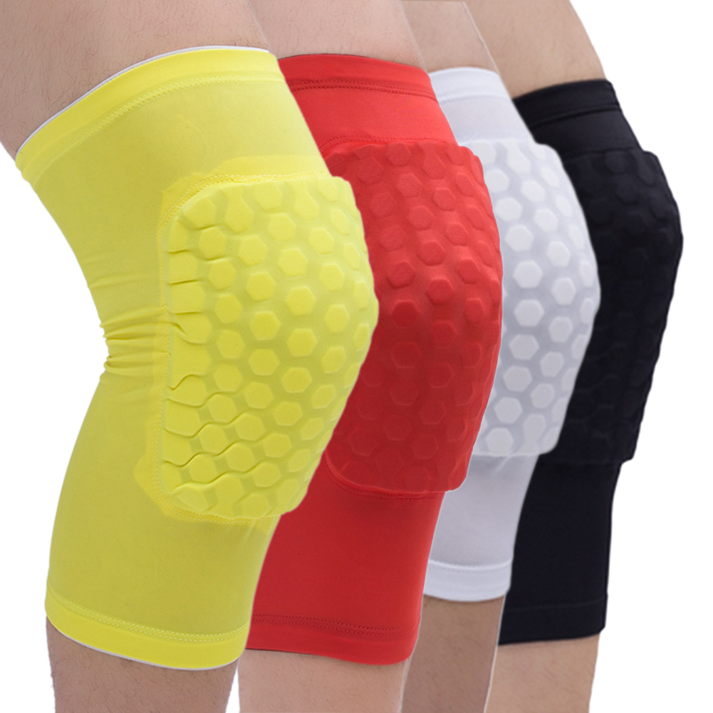 Basketball Knee Support Honeycomb Sponge Pad Gel Sports Soccer Gym Brace Sports Safety Knee Pads  Leg Warmers Sports Kneepads