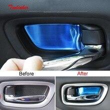 Tonlinker интерьерная Автомобильная дверная ручка, накладка на чашу, наклейки для Nissan Murano-19, автомобильный Стайлинг, 4 шт., наклейка на крышку из нержавеющей стали