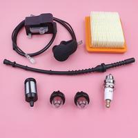 Ignition Coil Air Fuel Filter Line Hose Kit For Stihl FS120 FS200 FS250 FS300 FS350 Grass Trimmer Part Primer Bulb Spark Plug