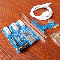 10set Lot PCI E 1 To 3 PCI Express 1X Riser Card Mini ITX 3 PCI